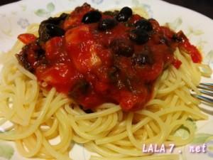 黒豆入りスパゲティ