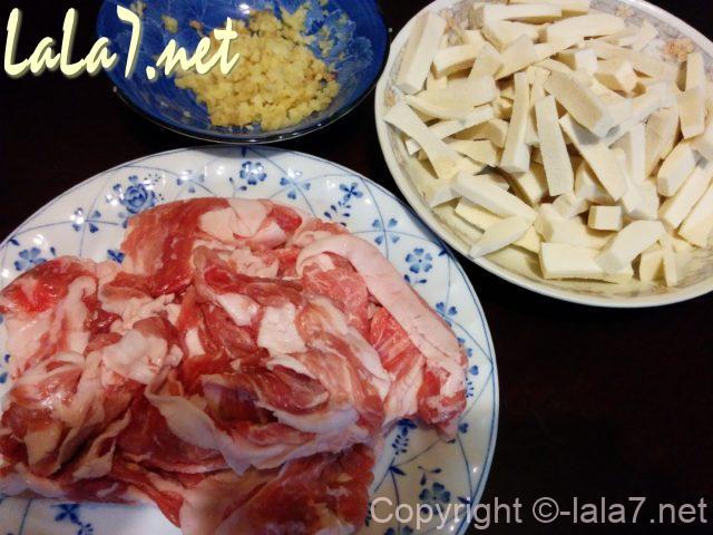 高野豆腐料理 材料
