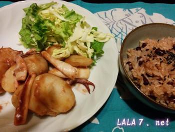 イカと里芋の煮炒め