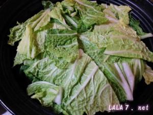 豆腐バーグの白菜重ね煮