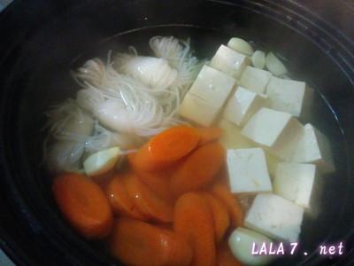 味をプラスして常夜鍋