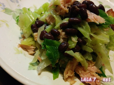 美脚食の小豆サラダ