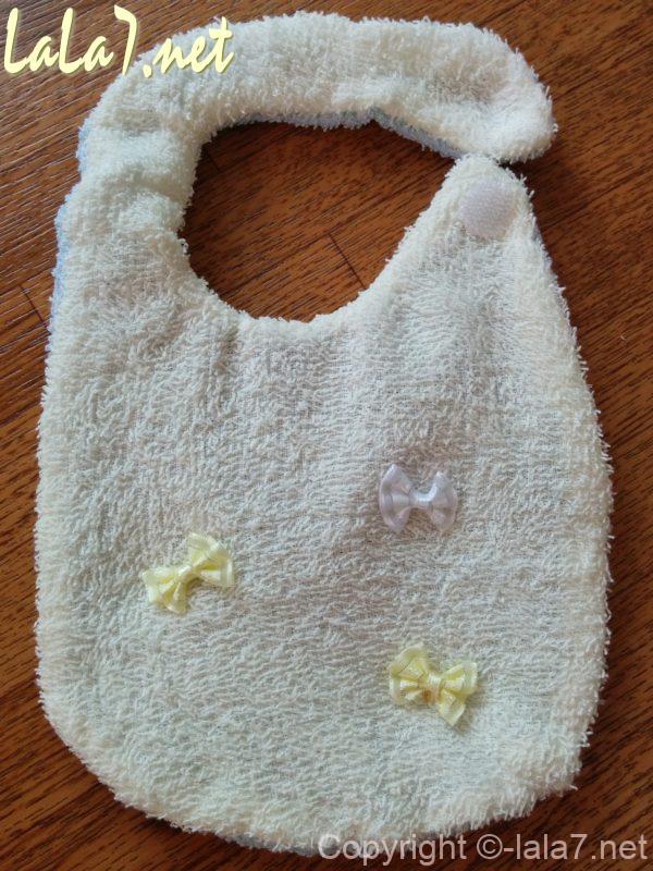 ビニール袋を挟んだスタイ、試作品第一号