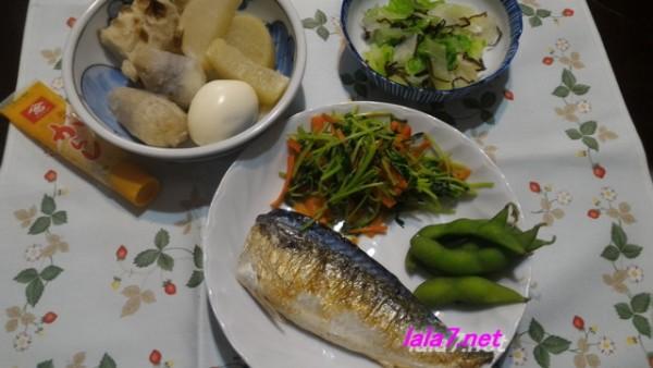 糖質制限ダイエット・メインサバ料理とおおでんと副菜