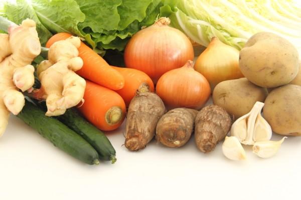 根菜を中心にした野菜たち