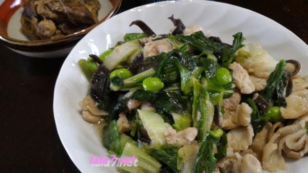 肉料理で糖質制限・夕食は豚こま肉をメインに一皿糖質1.5グラム
