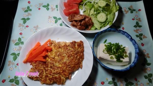 卵とひき肉で糖質制限料理・速い安い旨い 付け合わせとともに