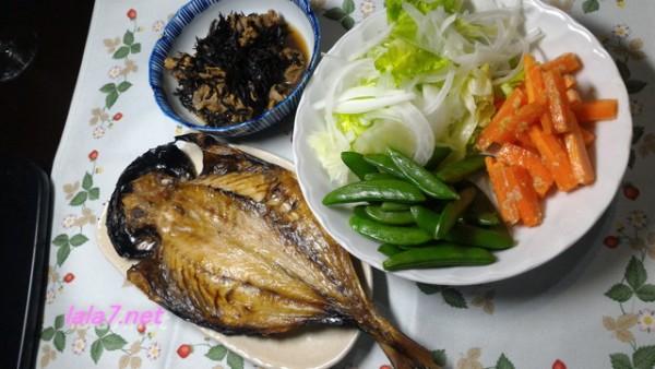 作りおきおかずで時短の糖質制限料理・メインは焼き魚で糖質5グラム
