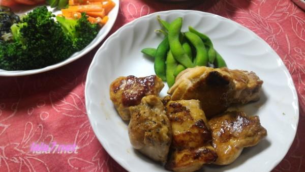 鶏唐揚げの定番味付けで焼くだけの糖質制限食事