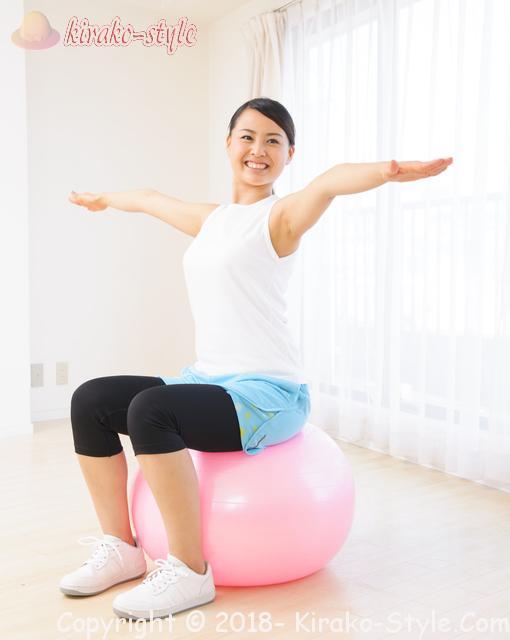 バランスボールを椅子にして体幹を鍛える!選び方のポイント決定版!