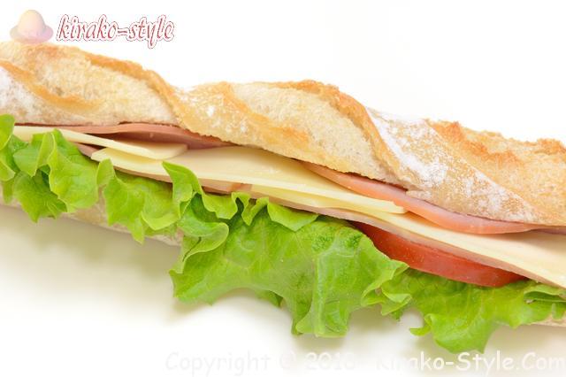 サンドイッチの日3月13日・なぜ?イベントない/をつくってください!個性的なサンドウィッチバケットサンドの画像