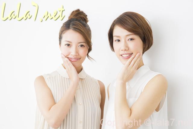 ミネラルサンスクリーン・若い女性二人