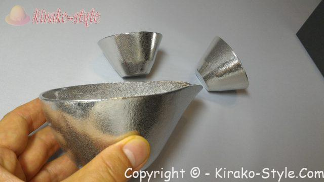 能作の酒器セット(小)錫100%、もったところ