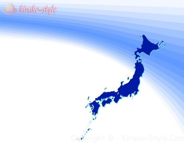 日本地図(紺色)