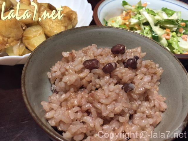 玄米のお赤飯・玄米で赤飯