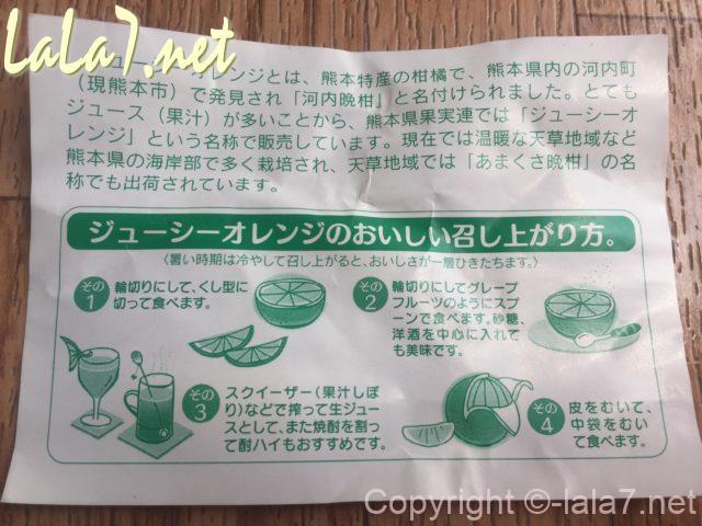 河内晩柑(ジューシーオレンジ・美生柑)産地がすすめる食べ方