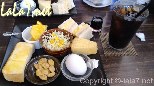 愛知県あま市のモーニングセットアイスコーヒーで370円