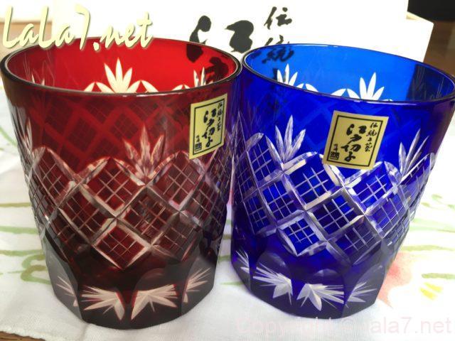 江戸切子のペアグラス 田島硝子製