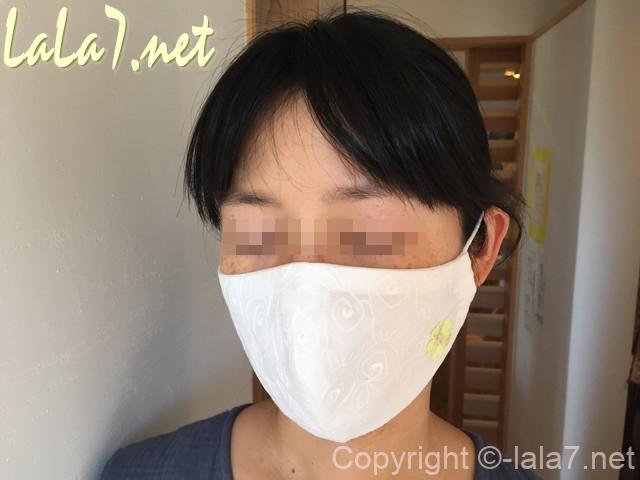 小顔に魅せるマスク、あごのラインがすっきり見えるマスク(立体型)