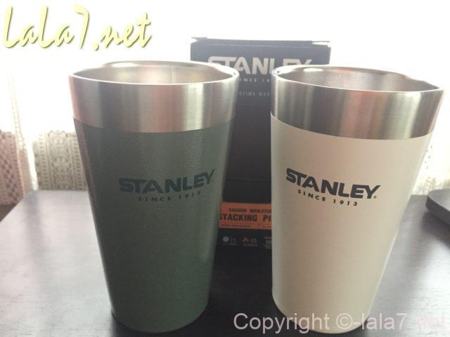 スタンレイ(STANLEY)のコップ473ml グリーンとホワイト