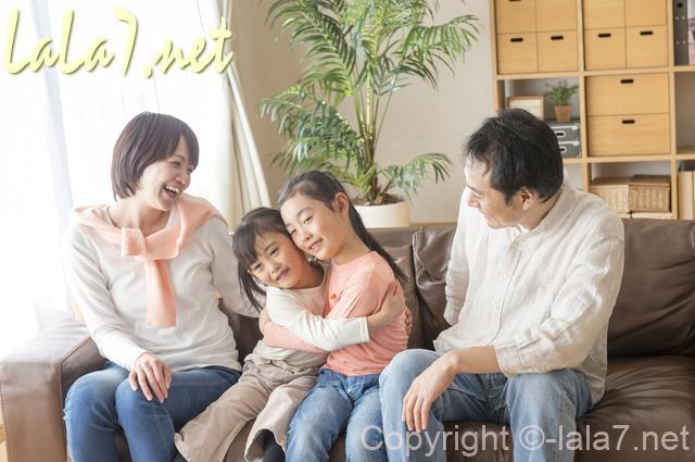 ファミリー 家族 両親と子供ふたり