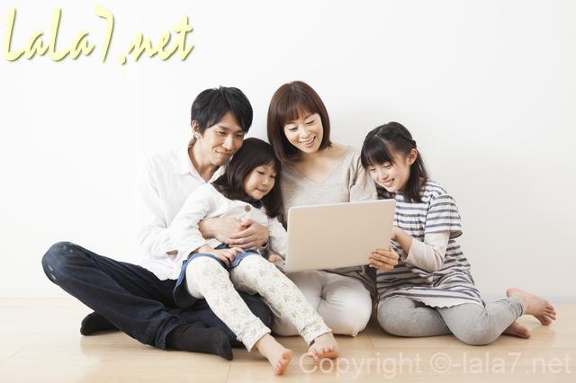 家族 ファミリー 両親と子供二人
